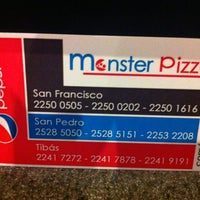 Photo taken at Monster Pizza by Martin A. on 10/5/2012