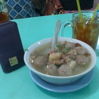 Photo taken at Bakso Amat by Nova A. on 1/12/2013