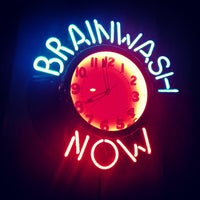 Photo taken at BrainWash Cafe & Laundromat by Mike V. on 10/4/2012