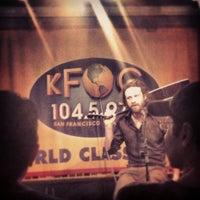 Photo taken at KFOG by sarah p. on 1/25/2013