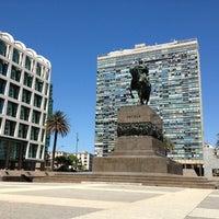 Photo taken at Plaza Matriz by Debora C. on 1/13/2013