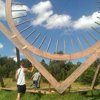 Photo taken at Zaļā Saule (The green sun) - dabas un dzīvības simbols by Anete A. on 7/19/2014