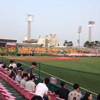 Photo taken at Cheongju Baseball Stadium by InHee L. on 6/17/2016