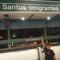 Photo taken at Estação Santos-Imigrantes (Metrô) by Diego G. on 9/17/2012