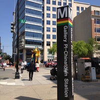 Photo taken at Gallery Place - Chinatown Metro Station by Harjit on 4/26/2013