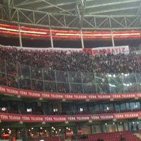 Photo taken at Türk Telekom Arena by Ramazan K. on 11/27/2012