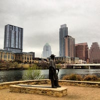 Photo taken at Stevie Ray Vaughan Statue by Scott B. on 3/8/2013