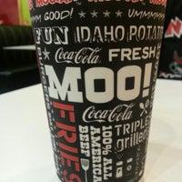 Photo taken at MOOYAH Burgers, Fries & Shakes by Brendan M. on 11/10/2012