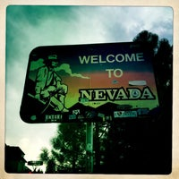 Photo taken at Welcome To Nevada! by Stephane G. on 8/11/2014