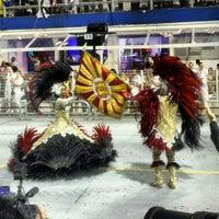 Photo taken at Sambódromo by Ingrid M. on 2/10/2013
