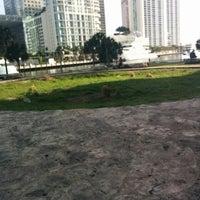 Photo taken at Miami Circle Park by Bonnie W. on 3/15/2015