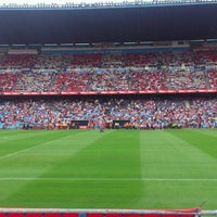 Photo taken at Estadio Vicente Calderón by Serrito on 9/23/2012