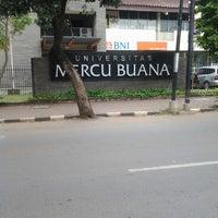 Photo taken at Universitas Mercu Buana by Anisa A. on 5/17/2013