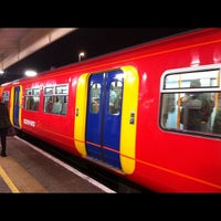 Photo taken at Staines Railway Station (SNS) by Brian S. on 12/5/2012