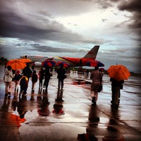 Photo taken at Daniel Z. Romualdez Airport by Ezra A. on 12/18/2012