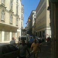 Photo taken at Bankalar Caddesi by Serkan A. on 6/29/2012