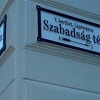 Photo taken at Szabadság tér by Ольга Р. on 5/17/2013