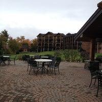Photo taken at Crowne Plaza Resort Lake Placid-Golf Club by Karen S. on 9/30/2012