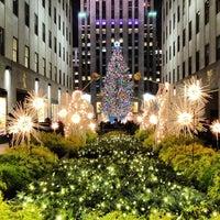 Photo taken at Rockefeller Center Christmas Tree by Brady G. on 12/21/2012