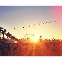 Photo taken at Coachella Main Entrance Line by Elizabeth S. on 4/20/2013