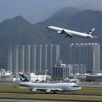 Photo taken at Hong Kong International Airport (HKG) by Stefan S. on 9/28/2013