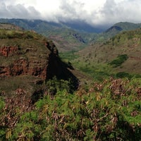 Photo taken at Hanapepe Canyon Lookout by Yoko M. on 11/9/2012