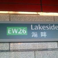 Photo taken at Lakeside MRT Station (EW26) by Nanaa M. on 10/28/2012