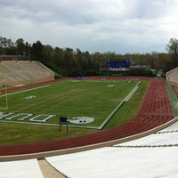 Photo taken at Brooks Field at Wallace Wade Stadium by Mikhail K. on 4/12/2013