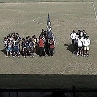 Photo taken at Stadion Klabat by hairil p. on 2/14/2014