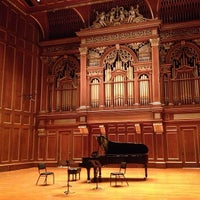 Photo taken at New England Conservatory's Jordan Hall by Frank C. on 4/1/2013