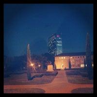 Photo taken at Anderson Hall Rice University by Vivaswath K. on 10/30/2012