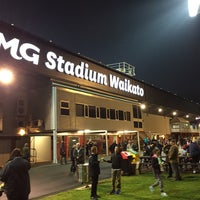 Photo taken at Waikato Stadium by Jean P. on 6/14/2016