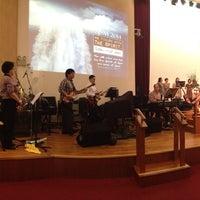 Photo taken at SJSM - Christ Sanctuary by Stanley W. on 6/7/2014