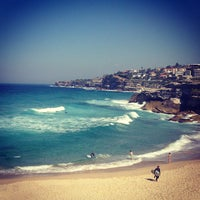 Photo taken at Tamarama Beach by Kris & Alex Moskov on 8/30/2013