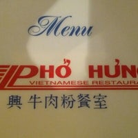 Photo taken at Pho Hung by The Marcos H. on 2/25/2013