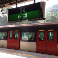 Photo taken at MTR Sha Tin Station by 志鴻 吳. on 11/4/2012