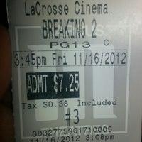 Photo taken at Marcus La Crosse Cinema by Ashlee L. on 11/16/2012