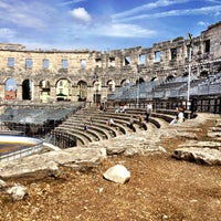 Photo taken at Arena Pula | The Pula Amphitheater by Jakub S. on 9/2/2012