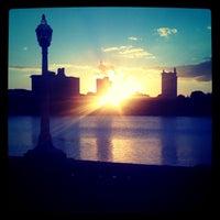 Photo taken at Lake Mirror by Joe C. on 10/25/2011