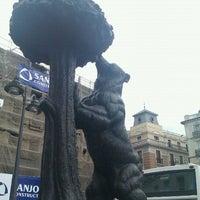 Photo taken at Estatua del Oso y el Madroño by Hugh S. on 8/31/2011