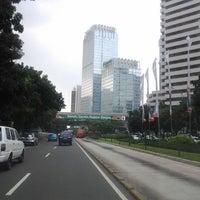 Photo taken at Jalan Jenderal Sudirman by Grace S. on 4/23/2012