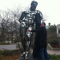 Photo taken at Naked Guy Statue by Jo O. on 4/27/2011