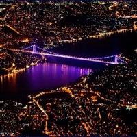 Photo taken at Bosphorus Bridge by Derya Y. on 12/26/2012