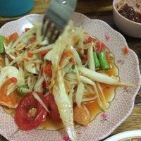 Photo taken at ร้านลูกหิน ส้มตำ อาหารอีสาน by Gotto K. on 11/23/2015