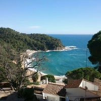 Photo taken at Cala Canyelles by Dmitri B. on 11/2/2012