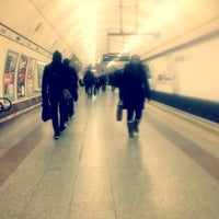 Photo taken at Angel London Underground Station by Anthony I. on 1/15/2013