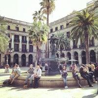 Photo taken at Plaça Reial by Mark A. on 3/21/2013