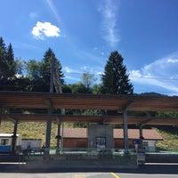 Photo taken at Bahnhof Gstaad by Siddhartha J. on 8/3/2015