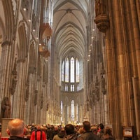 Photo taken at Cologne Cathedral by Diego F. on 3/31/2013