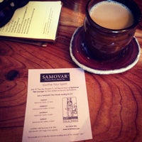 Photo taken at Samovar Tea Lounge by Andrea K. on 5/12/2013